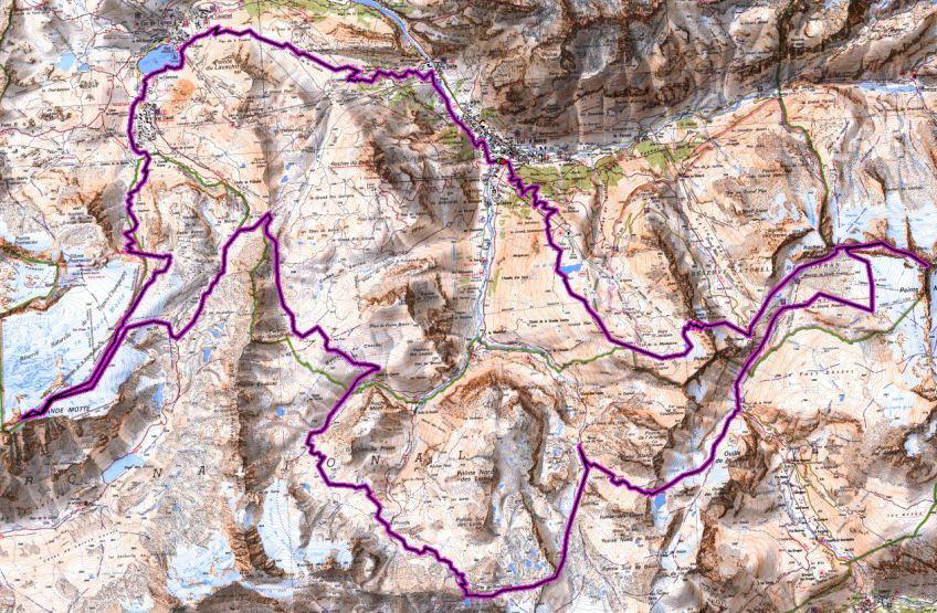 skyrunning-2013-ice-trail-tarentaise-mapa